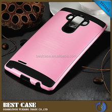 Fashion TPU+PC with armor 2 in 1 phone cover for LG G4 mobile phone accessories
