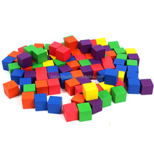 wholesale promotional colorful kids intelligent educational wooden cube block for puzzle