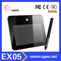 8x5 inch Ugee EX05 signature pad factory wholesale drawing tablet pc