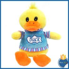 15cm stuffed farm animal sitting height plush yellow dress duck toys dress love doll for kids happy yellow duck