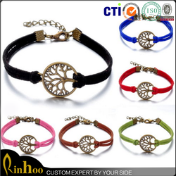 Wholeslae Cheap Latest Design Fashion Handmade Bracelet/ Retro Bronze Tree of Life Infinity Leather Handmade Bracelet