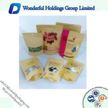 matte looks Paper Bag With Clear Window / Food Packaging Paper Bags With Window / matte looks kraft paperbags with zip