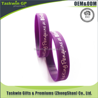 Debossed your logo silicone band, Fashional silicone hand band at wholesale price