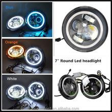 Wholesale Promotion angel eye led work light 7inch led head light for jeep wrangler accessories led headlight