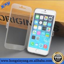 Transparent TPU flip cover for iphone 6 & 6 plus