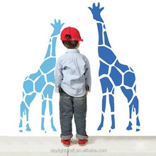 fashion adhesive vinyl giraffe animal wall sticker for kids