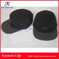 black material brand logo cow leather patch custom 3m reflective panel hat