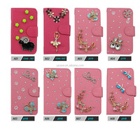 2015 Hot New Products For 3d bling crystal wallet Leather Flip Case For BlackBerry Q10 BBQ10