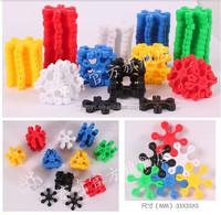 2015 new flower shape Plastic building blocks for kids for sale