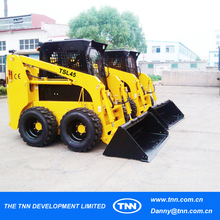 #11-1 Solar pay White color skid steer loader Chinese reseller