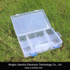 Transparent 8 Divided Apartment Plastic Box Case for Jewelry Earrings Fishing Tackle