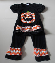 Persnickety Toddler Halloween Outfits For Kids Pumpkin Outfits With Orange & Black Matched Clothing Sets