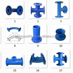 Ductile iron Pipe Fittings Cross, Tee, Bend, Taper/Reducer