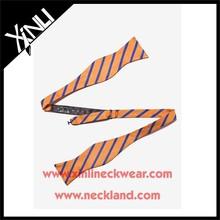 Popular Stripe Satin Ribbon Bow Tie