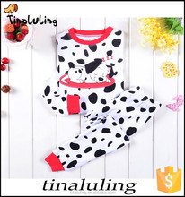 Lovely babies Hight quality of Dalmatians Silky Comfort Luxe Pajama Set for kids