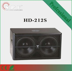 SPE Speakers, HD-212S, 800w dual 12 inch subwoofer