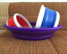 diversi tipi di frutta di plastica pieghevole cesti colorati ceste