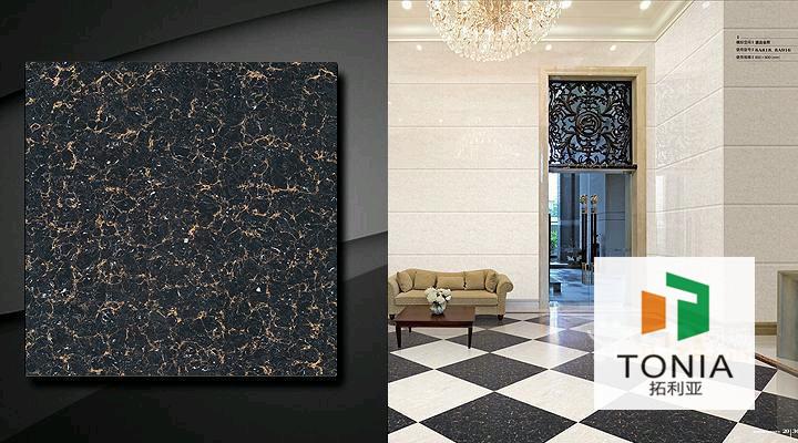 India Black Polati Laminate Flooring Flower Pattern Ceramics Tile ...