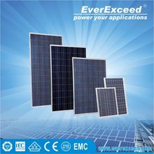 EverExceed High specification 150W Polycrystalline Solar module certificated by TUV/VDE/CE/IEC mounted in roof