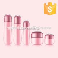 Cosmetic bowling shape bottle glass cosmetic cream jar
