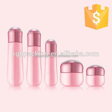 Cosmetic bowling shape bottle glass cosmetic cream jar