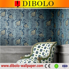 Korean designer 3d pvc vinyl waterproof wallpaper home decoration wallpaper