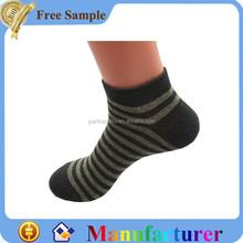 men popular stripes knitting breathable ankle socks