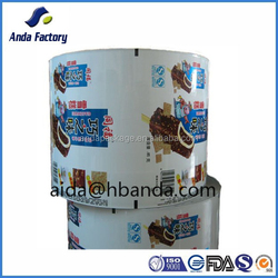 Frozen food packaging printed film / snack food packing laminated film