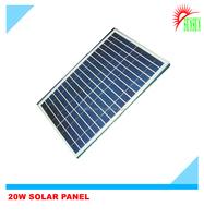 Glass laminated Aluminum frame best Mono/poly 20w solar panel price