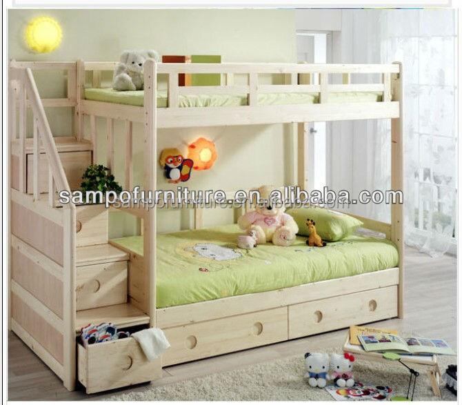 Twin over twin wood staircase bunk bed with storage - Letto a castello mondo convenienza ...
