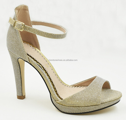 New design summer dress shoes ankle strap leather open toe fashion women pencil heel waterproof sandal