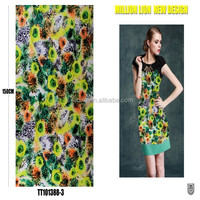 wholesale knitting printed polyester double layer fabric