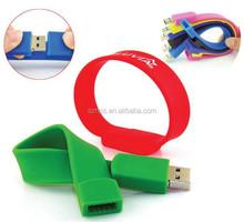 OEM/ODM factory direct supply luminated bracelet usb 2.0 flash disk