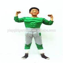 Venta al por mayor niños cosplay traje de halloween traje hulk PKHC-0011
