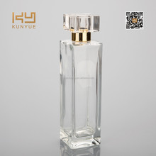 100ml wholesale pure and grace cuboid perfume glass bottle