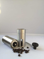 News Amozon Hot Portable Stainless steel Hand Coffee grinder burr