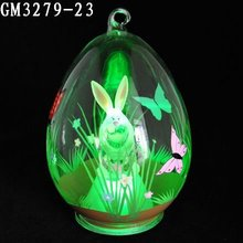 Popular glass easter egg hanging for easter ornament