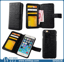 Wallet Case for iPhone 6, Detachable Card Holder Leather Mobile Phone Wallet