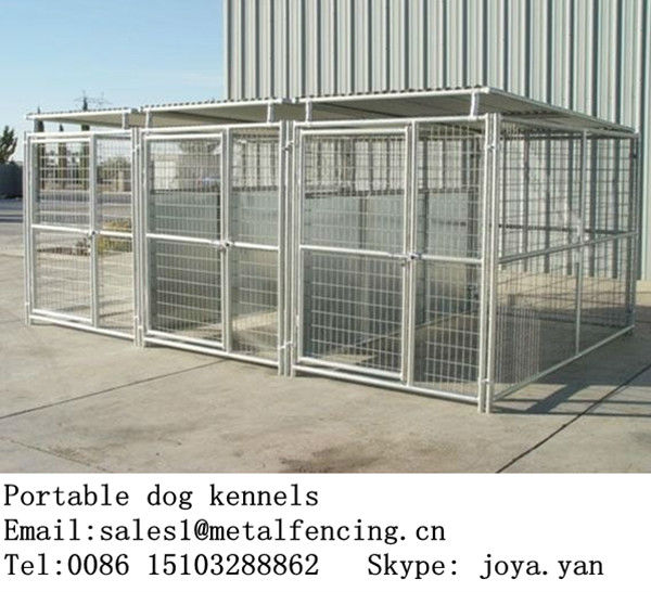 Venta al por menor venta al por mayor de acero galvanizado soldado dog jaulas de la perrera