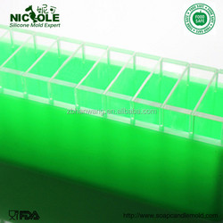 Wholesale Nicole D0010 Bigger Size Handmade Silicone Loaf Molds With Divider for Soap Making
