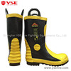 ce portable fire protection rescue rubber fireman boots with steel toe