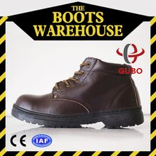 Black Steel Toe Office Safety Shoes Slippery Resistant Shoes