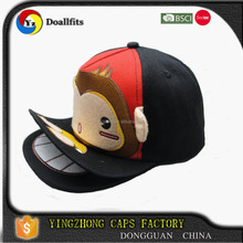 Customized Cotton fashion baby hat cartoon cap with double brims