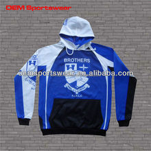 Youth size sublimated men winter hoodies