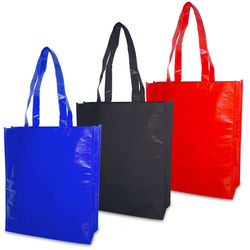 Glossy non woven PP laminated tote bag from stock