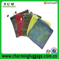 Small zipper nylon drawstring mesh bag