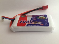 New design High discharge rate 3.7v 1000mAh rc Hobby Type rc Quadcopter rc Drone lipo Battery