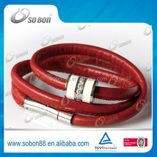 personalized leather bracelets with carbon fiber crystal for couples