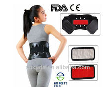 Heating sensing tourmaline magnetic lower back support
