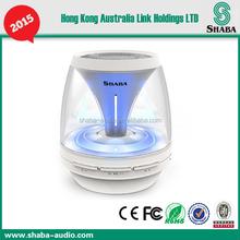 SHABA mini bluetooth speaker VS-18 with LED music rythm light and FM radio